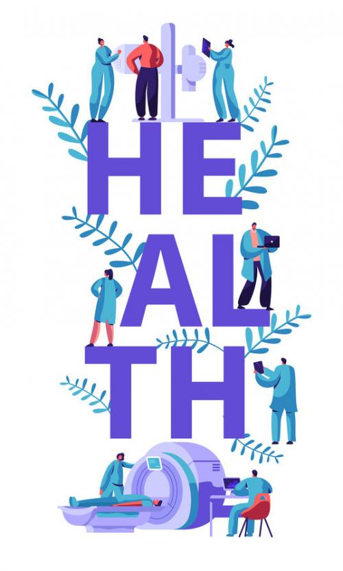 graphic depicting the word health
