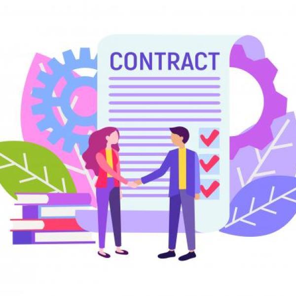 cartoon of people shaking hands