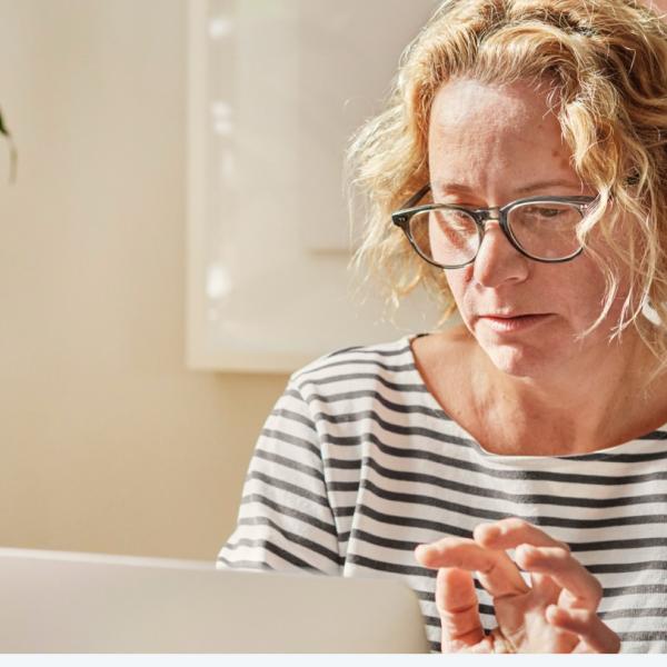 image of woman at computer
