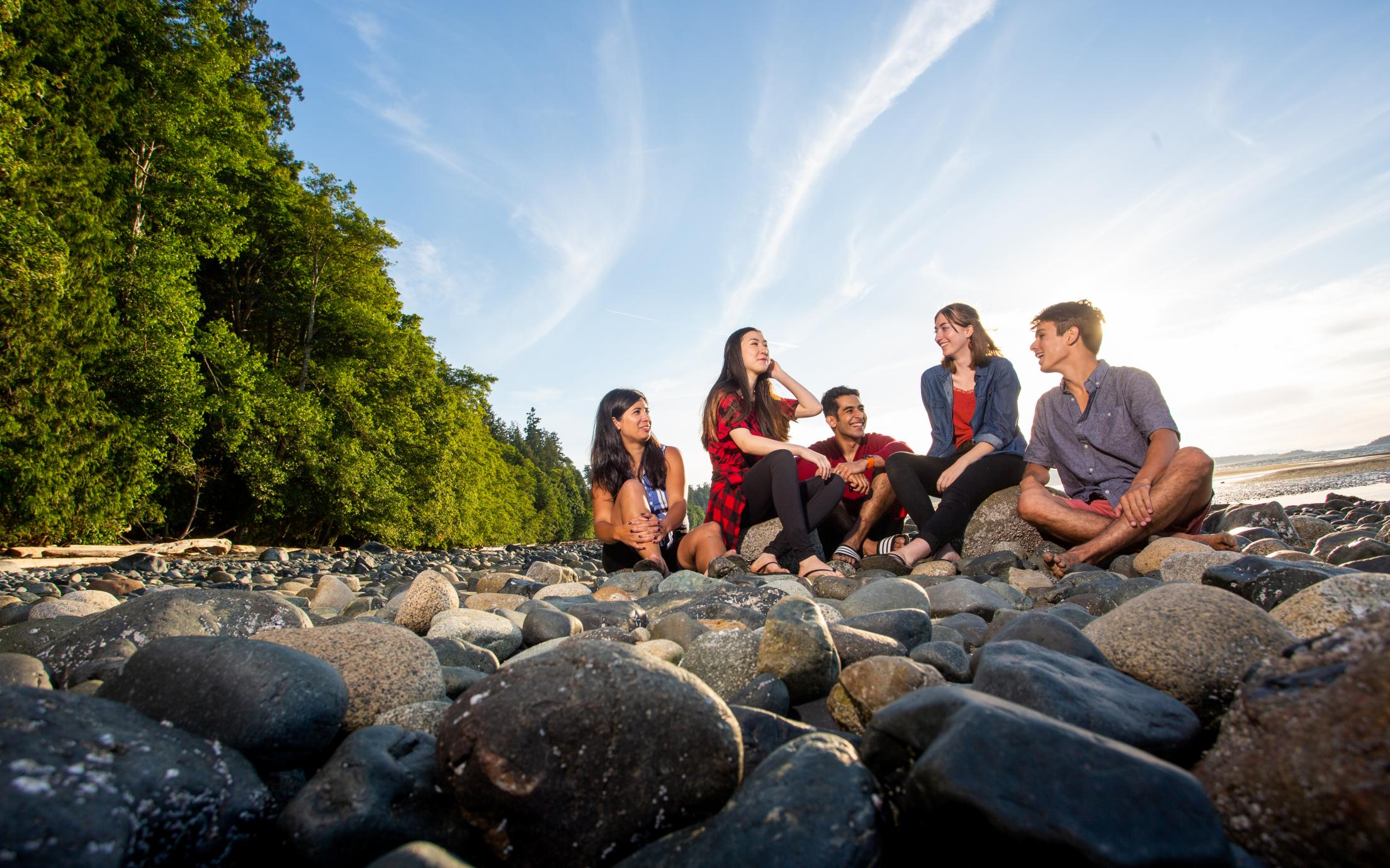 VIU Students Recreation at the Beach