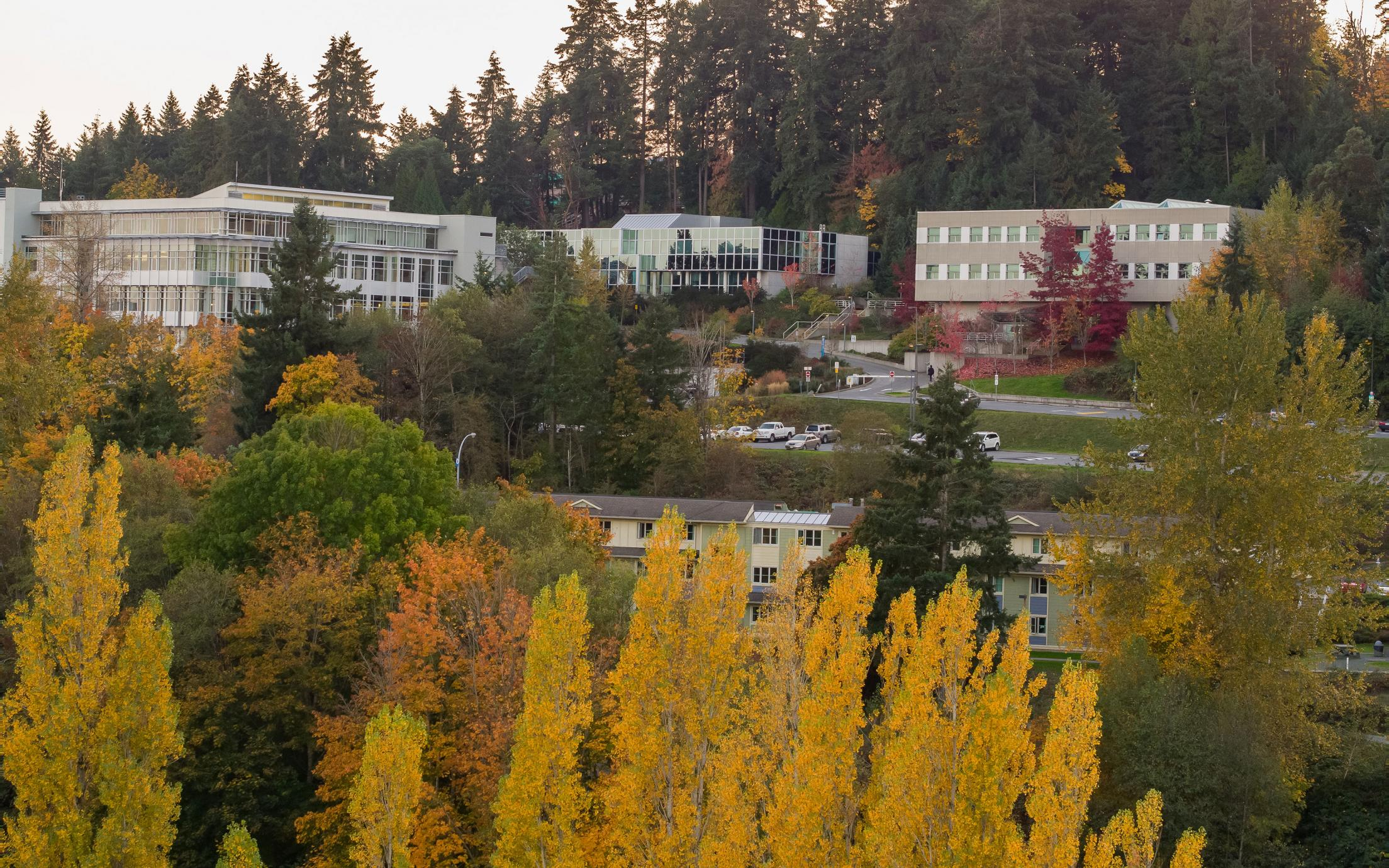 VIU Nanaimo Campus looking southeast
