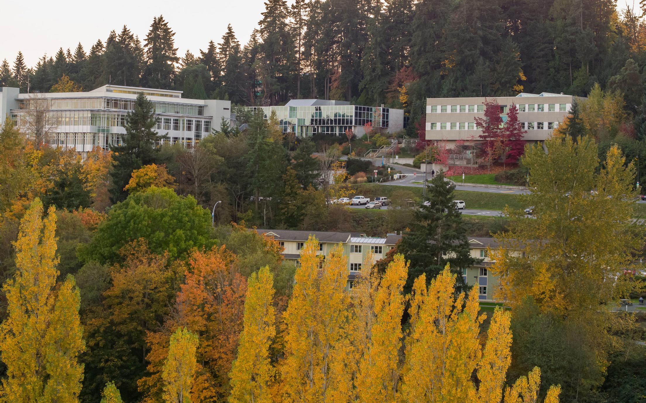 VIU Nanaimo Campus looking southeast